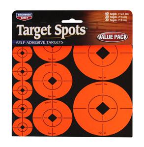 "Birchwood Casey 1"", 2"" & 3"" Targets, 110ct"