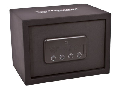 "Bulldog Magnum Series LED Vault With Shelf, Automatic Bolt System, Black, 9.75""x13.75""x9.75"""