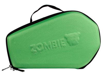 "Bulldog Zombie Molded Nylon Coffin-Shaped Pistol Case, Green, 14""x9"""