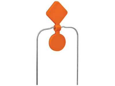 Champion Double Spinner Target, DuraSeal Self-Sealing Material, Orange