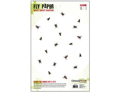 """Champion Precision Fly Paper Target, 11""""x17"""", 25ct"""