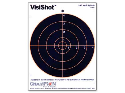 "Champion VisiShot Paper Targets, 8"" Bulls, 8.5x11 - 10pk"
