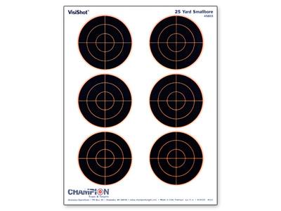 "Champion VisiShot Paper Targets, 3"" Bulls, 8.5x11  - 10pk"
