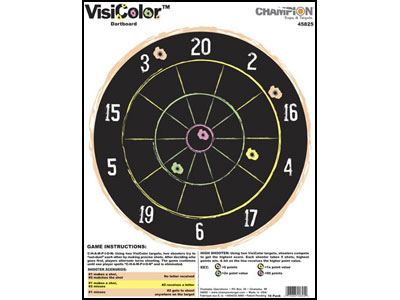 Champion VisiColor High-Visibility Paper Targets, Dartboard - 10pk