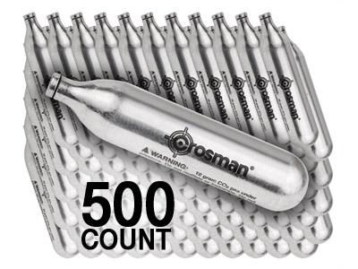 Crosman 12-Gram CO2 Cartridges, 500ct