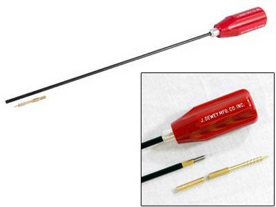 "Dewey 24"" Nylon-Coated Cleaning Rod, Brush Adapter & Jag, .22-Cal Airguns"