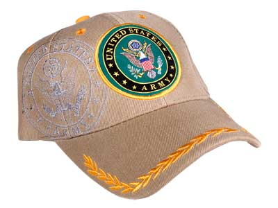 Tactical Crusader Fully Licensed Army Cap, Tan