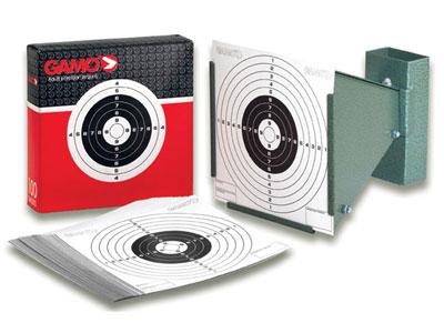 Gamo Bone Collector Cone Pellet Trap & 100 Paper Targets