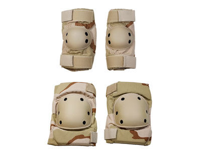 G&G Knee Pads & Elbow Pads Set, Large, Desert Color