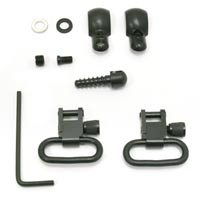 """GrovTec Swivel Set, Wood Screws, Fits Some Lever-Action & Tube-Mag Rifles & Carbines, 1"""" Loops, Black Oxide thumbnail"""