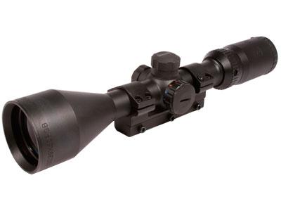 """Gamo 3-9x50 Rifle Scope, Illuminated Glass-Etched Duplex Reticle, 1/4 MOA, 1"""" Tube, 3/8"""" Dovetail Mount"""