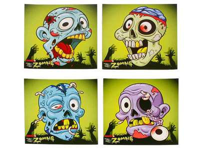Gamo Zombie Paper Targets, 4 Images, 100ct