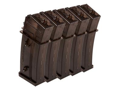 H&K High-Capacity AEG Magazines, Fits H&K G36 Airsoft Rifles, 400 Rds, Black, 5 Pk