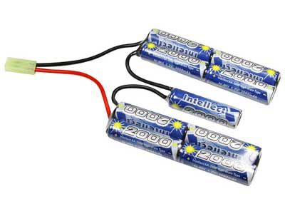 Intellect 10.8 V 2000mAh Battery, NiMH, Mini-Tamiya Female Plug, Nunchuck Type