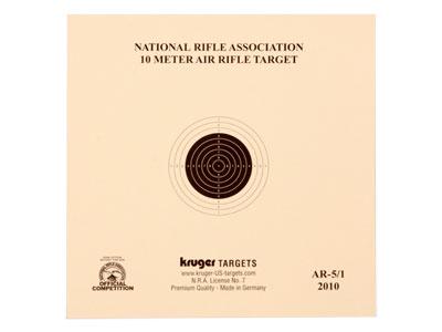 "Kruger NRA 10 Meter Air Rifle Target, 5.5""x5.5"", 100ct"
