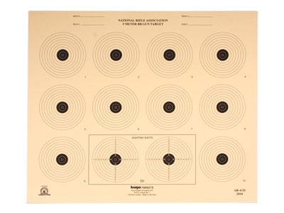 """Kruger NRA 5 Meter BB Gun Target, 14""""x12"""", 100ct"""