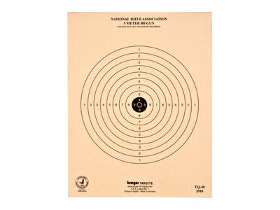 """Kruger NRA 5-Meter BB Gun Target, 7""""x9"""", 100ct"""
