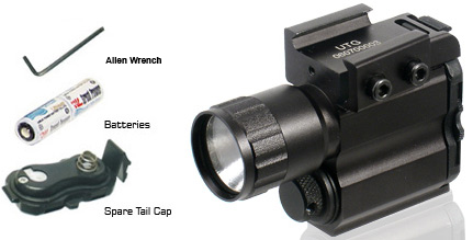 UTG Tactical Pistol Flashlight, Xenon Bulb, Weaver Mount