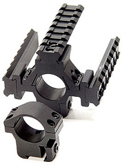 "Leapers Accushot 1"" Rings w/Deluxe Tactical Tri-Rail, 3/8"" Dovetail"
