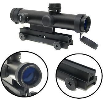 3-9x28 Mini AR-15 Scope, Bullet Drop Compensator