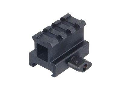 "UTG 3-Slot High-Profile Compact Riser Mount, 1"" High, Black"
