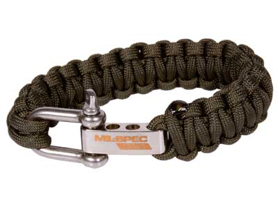 "JAG Precision Mil-Spec Cobra Paracord Bracelet, OD Green, 7"""