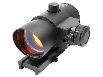 NcStar 1x40mm LED Red Dot/Laser Sight, 1 MOA, Integral Quick-Release Weaver/Picatinny Mount