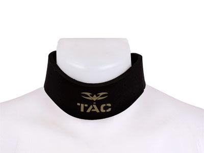 Valken V-TAC Neck Protector, Hook & Loop Close, Black