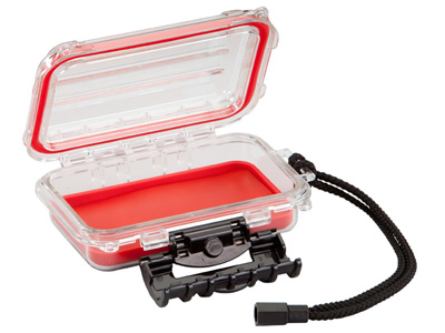 "Plano Guide Series Waterproof Case, 6.5"", Red/Clear"
