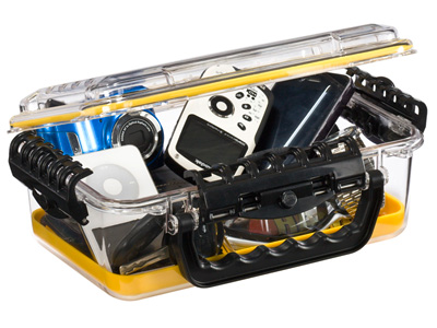 "Plano Guide Series Waterproof Case, 11"", Yellow/Clear"