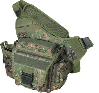 UTG Multi-Functional Tactical Messenger Bag, Woodland Digital