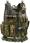 UTG Airsoft Deluxe Tactical Vest Digital, Woodland Digital Camo