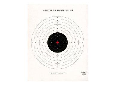 National Target Single Bull Red Center Air Pistol Target