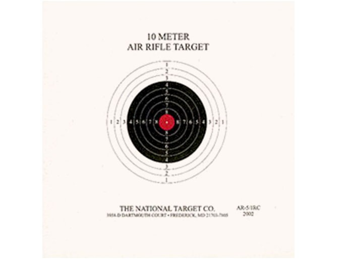 National Target Single Bull Red Center Air Rifle Target