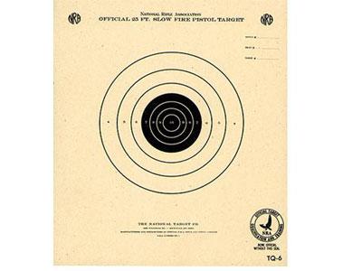 National Target NRA 25' Slow Fire Air Pistol Target, Single Bull