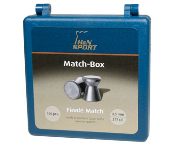 H&N Finale Match Pellet Box, Holds 100 .177-Cal Wadcutter Pellets