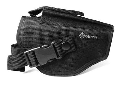 "Crosman Pistol Holster, Accessory Pocket, Quick-Release Buckle, 7""x4.5"""