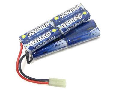 Intellect 9.6v 2000mAh NiMH Battery with Mini Tamiya connector