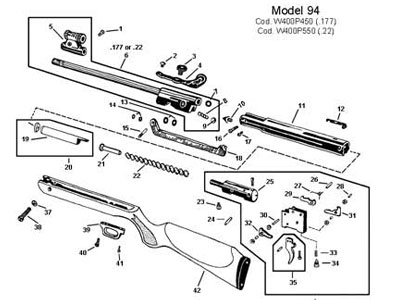 RWS Triggerguard Rear Screw / 94