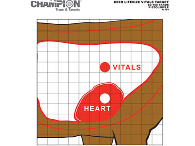 "Champion Deer Vitals Paper Target, 14""x18"", 12ct"
