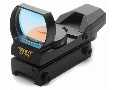 BSA Panoramic Multi-Reticle Sight, 4 Reticles, Weaver Mount