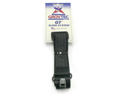 "GrovTec Mountaineer Rifle Sling & Swivels, 48""x1.25"", Black"