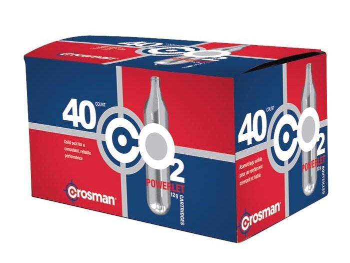 Crosman 12 Gram CO2, 40 Cartridges