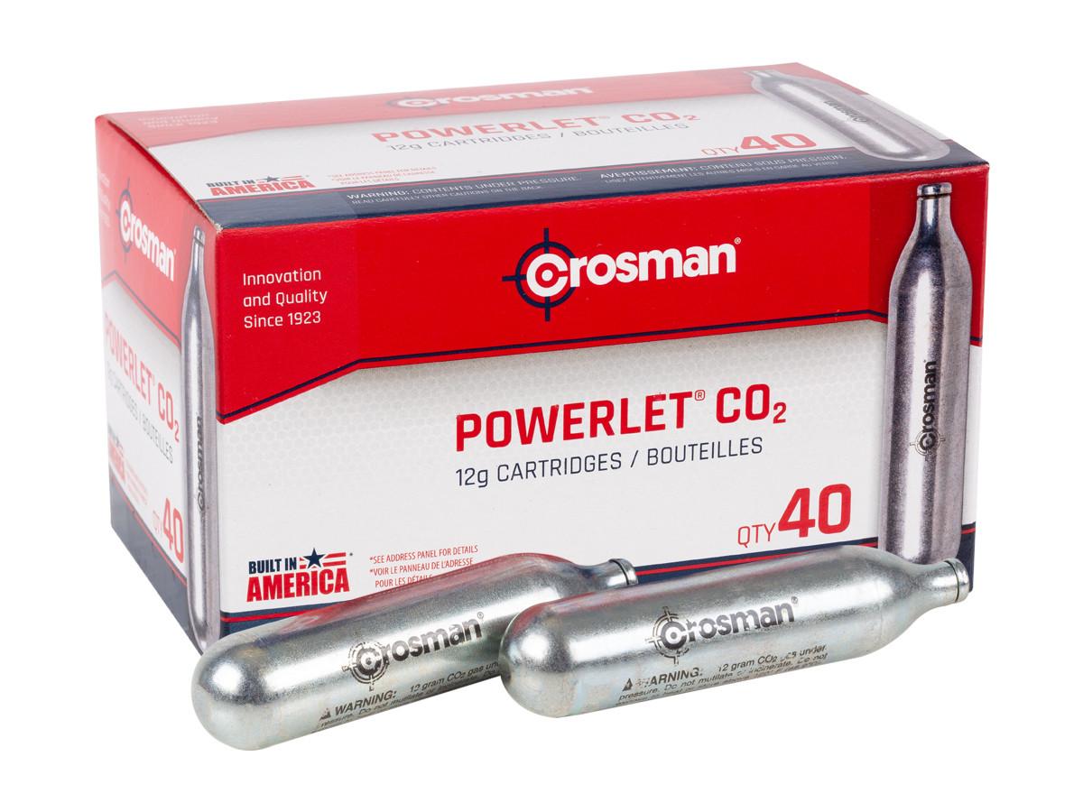 Crosman Powerlet Co2 Cartridge 5 Pack for sale online 12g
