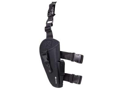 Crosman Leg Holster, Mag Pouch, Med/Lg-Frame Guns, Black