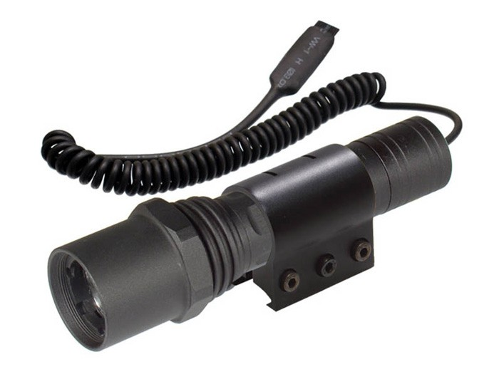 UTG Xenon Tactical Flashlight, 95 Lumens, 3 Functions, Weaver Mount, Handheld