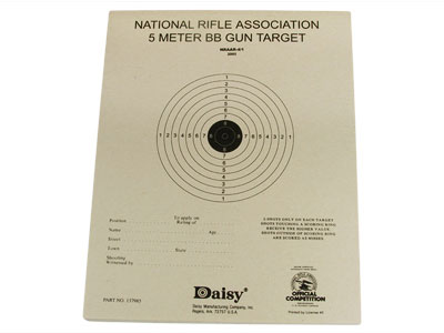 "Daisy Official NRA 5-Meter BB Gun Targets, 6.75""x5.38"", 50ct"