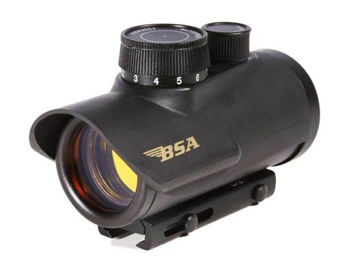 "BSA 30mm Red Dot Sight, 3/8"" and Weaver Mount"