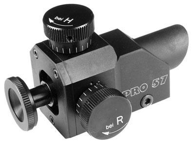 Centra Rear Sight, Fits 3/8 or 11mm Dovetail