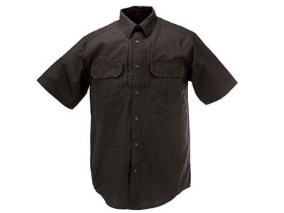 5.11 Tactical TacLite Pro Short Sleeve Shirt, Black, Medium